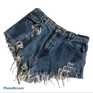 Northcrest Super Distressed Jean Booty Shorts